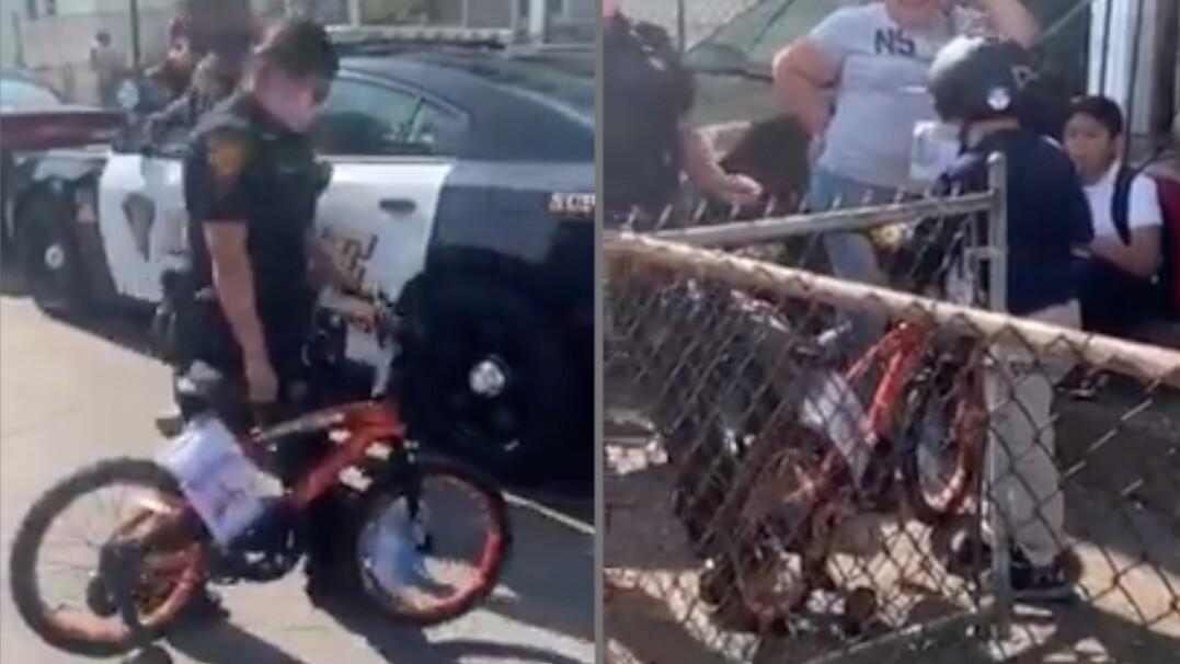 Ktoś ukradł chłopcu rower. Policjanci kupili mu nowy