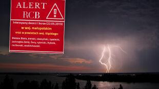 Alarmy najwyższego stopnia. Alert RCB: możliwe podtopienia i przerwy w dostawie prądu