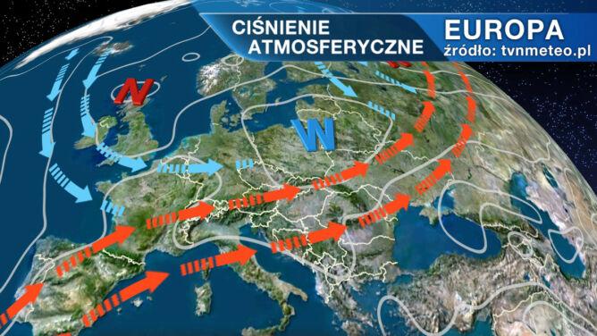 Chłodna i sucha masa powietrza wypchnie z Polski upał