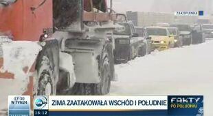 Trudna sytuacja drogowa w Polsce (TVN24)