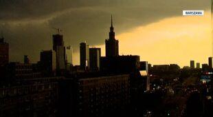 Minionej nocy w wielu polskich miastach wystąpiły burze (TVN24)